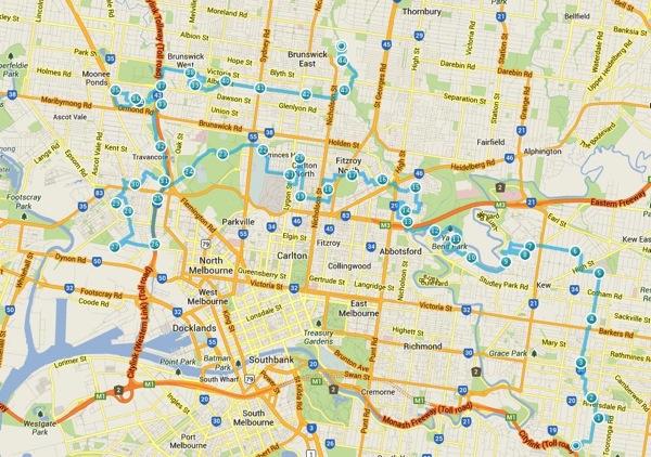Melburn Roobaix course