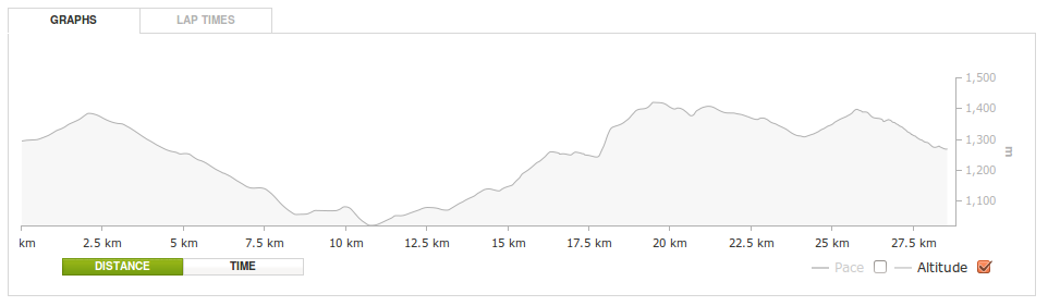 The Skyrun elevation profile